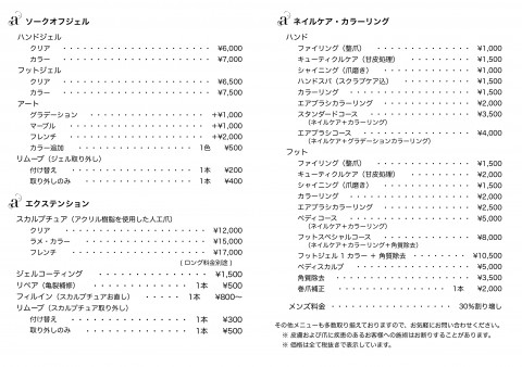 amis nail 料金表 pages